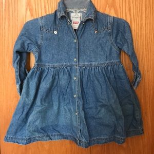 Girls Snap front Levi's dress. Size 3T